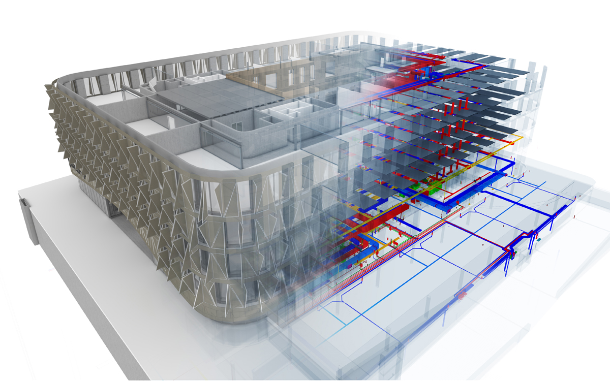 Das Scott Headquarter Von Ittenbrechbhl Vectorworks Electrical Plan Referenzmodell Der Architekten Wurde In Haustechnikmodell Plancal Nova Erstellt